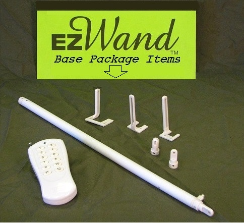 Base Package Includes; One Remote, One Wand, 3 Blind Headrails Adapters for Different Brands and 2 Wand Tips for Different Blinds