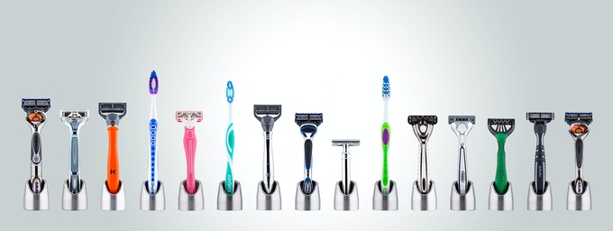 Solo Minimalist Razor Stand Amp Toothbrush Holder By Flyt