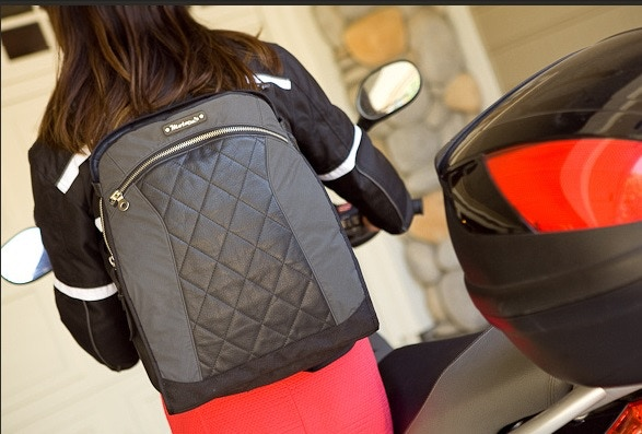 Lauren in backpack mode