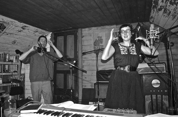 Recording our last album. (Photo: Phil Parhamovich)