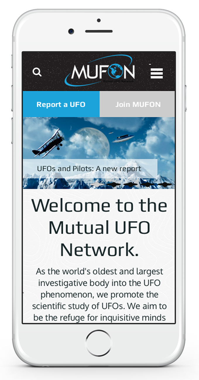 We want to ensure that MUFON.com looks and works amazing on any mobile device.