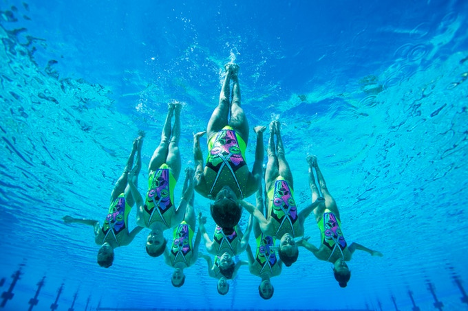 Junior National USA Synchro Team in Triflare 'Modern Opera'