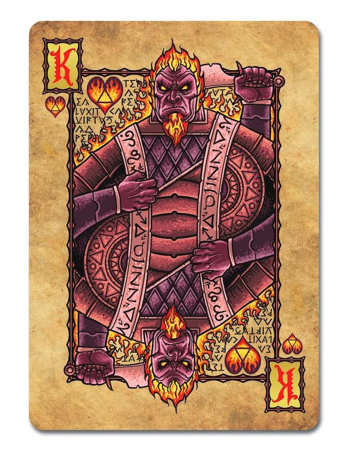 Elemental, Djinn - King of Hearts