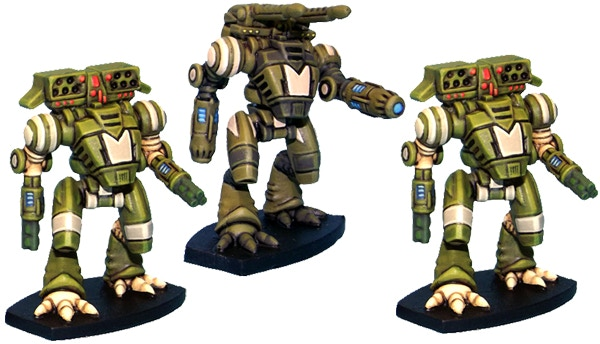 15mm Ayame Assault Suits. Left to Right; Scout, Hunter, Scout.