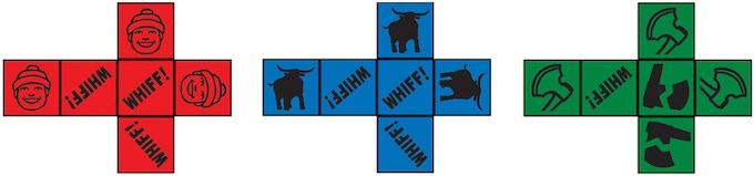Artist depiction of dice.