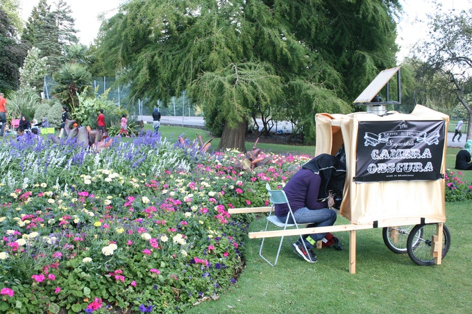 Our prototype being used in Cannon Hill Park.