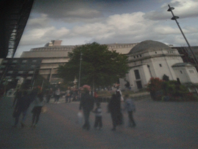 Photo taken of the screen inside the camera obscura simply by sticking a cameraphone in there.