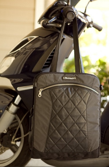 $198 - Supporters will receive the lovely Lauren bag in black, convertible from a backpack to tote.