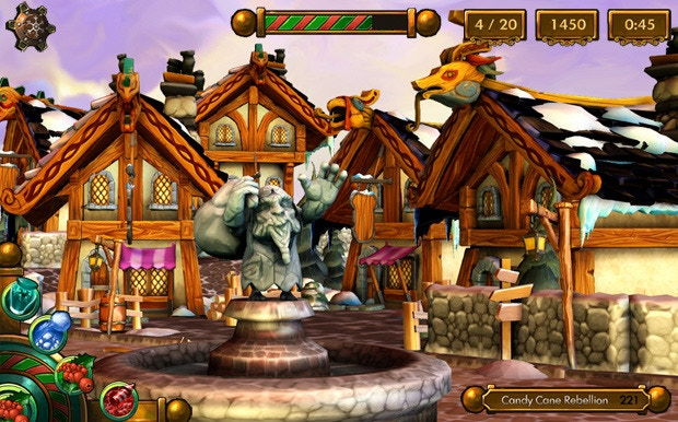 In-game screenshot of Kringletowne Village