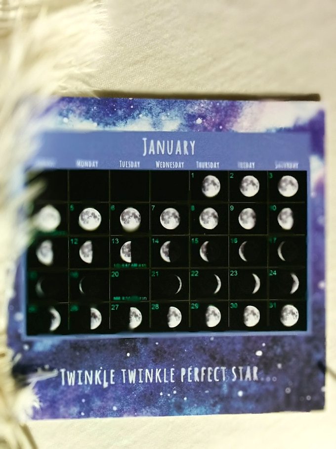 2015 moon phases along with a friendly rhyme made especially for you (backside of months January to December).