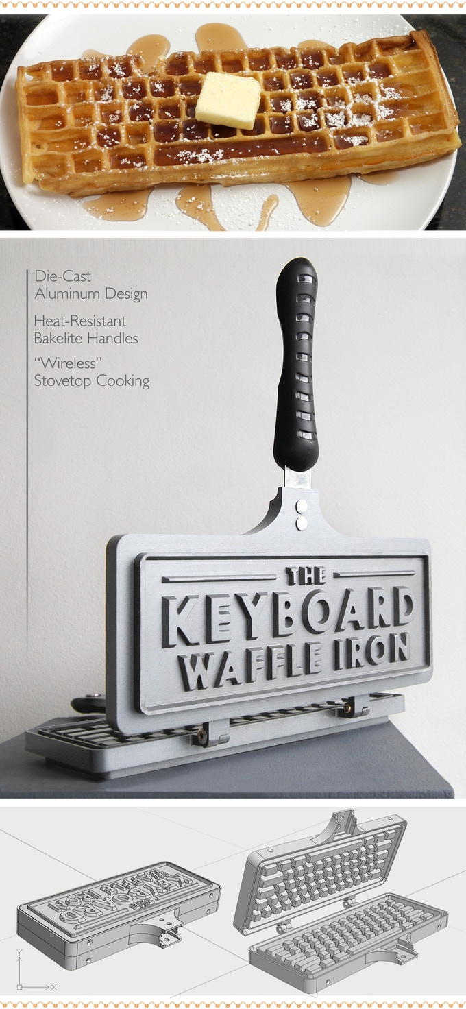 Image result for keyboard waffle iron