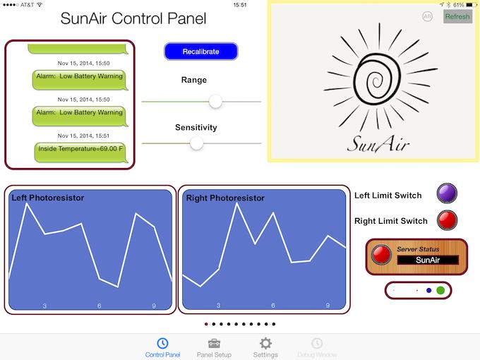 Sunair Solar Power Controller Board Tracker Phone Charger