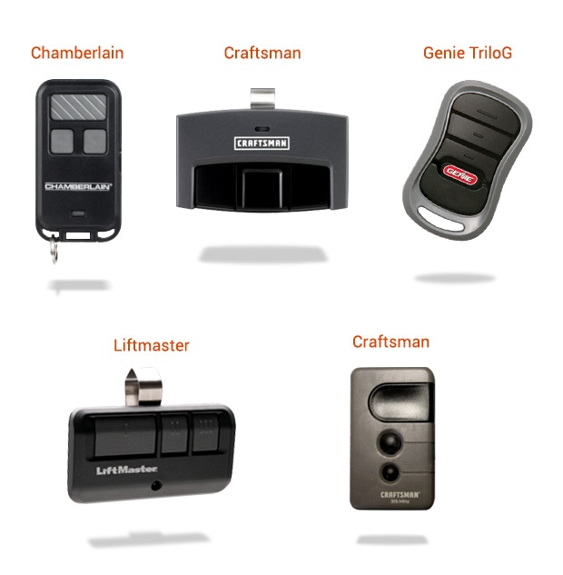 Supported garage door remotes (if you don't see your remote please email us)