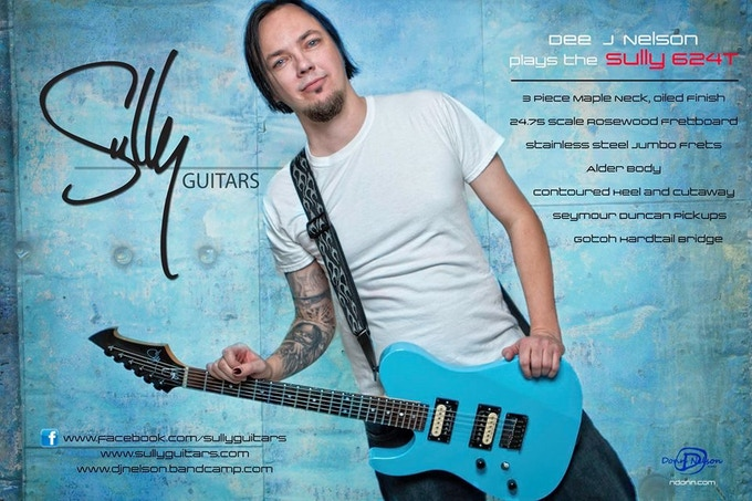 Sully Guitars artist Dee J Nelson and his 624 T