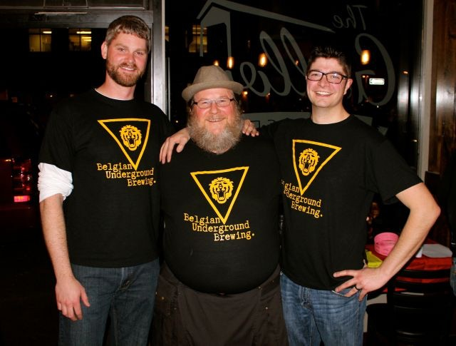 Eric, Dale, and Sheldon, founders of Belgian Underground Brewing.