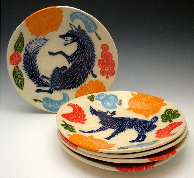 Salad Plate by Noelle Horsfield, $125 pledge level