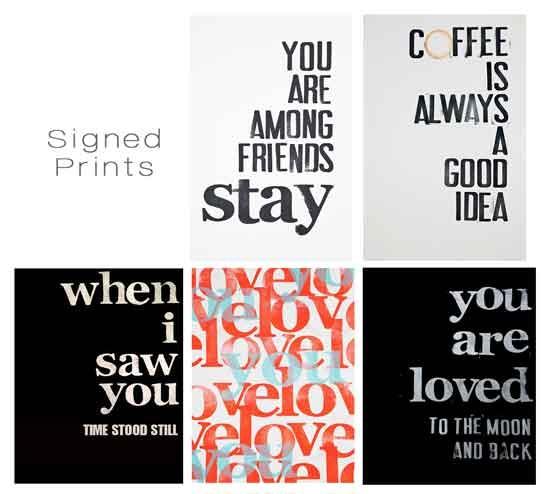 Reward 5 • Signed Medium Size Print (choice of one) Reward 10 • (choice of three)