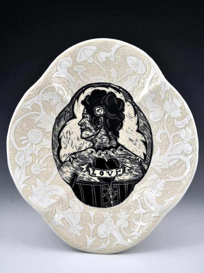 Kathy King, Love Plate, $225 pledge level