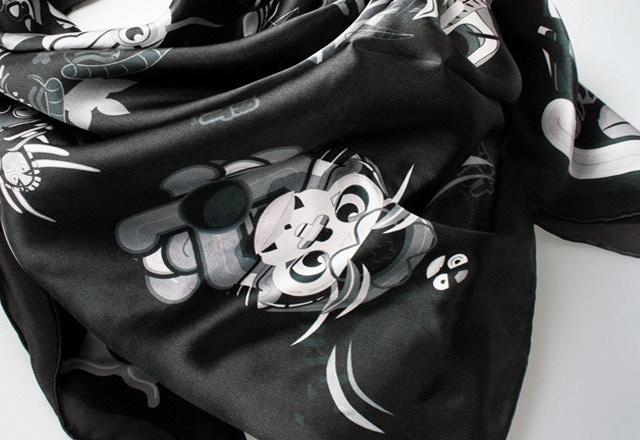 'Yoshinami' scarf by Thisisarobot