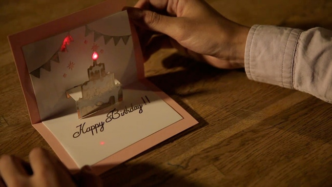 Add light to birthday cards and other crafts.