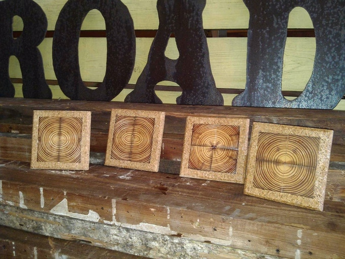 $65 reward! Tobacco Road coasters! Made from extinct Dade County Pine salvaged from the Tobacco Road Building!