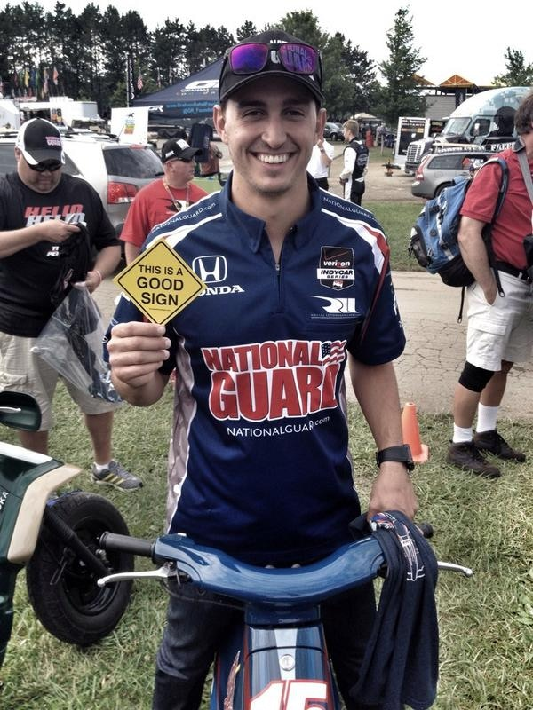 Graham Rahal, Indy car racer for Rahal Letterman Racing!