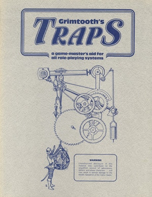 The original Grimtooth's Traps cover -- inspiration for our retro dust jacket goal!