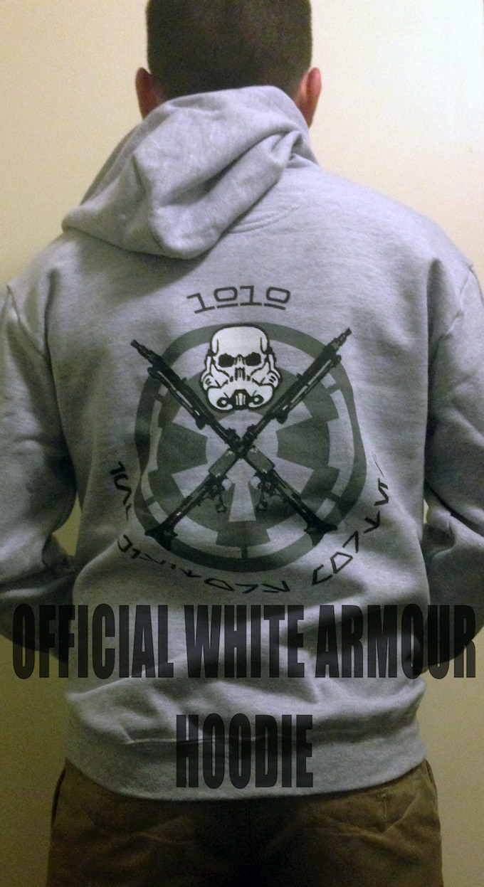 Crush Rebels in your very own White Armour Hoodie!