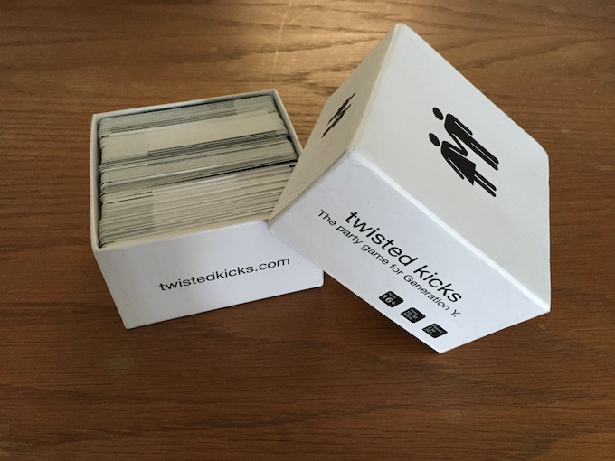 Here's a picture of our near final prototype! Remember the game cards will be standard playing card size and the box will be bigger and higher quality then what's pictured above! Read our updates to find out more!