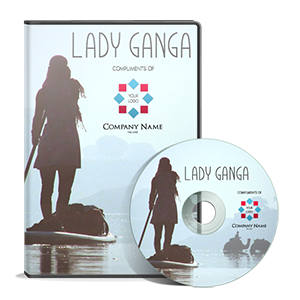 """DVDs and High Definition Blu-Rays of """"Lady Ganga"""" with your company's brand."""