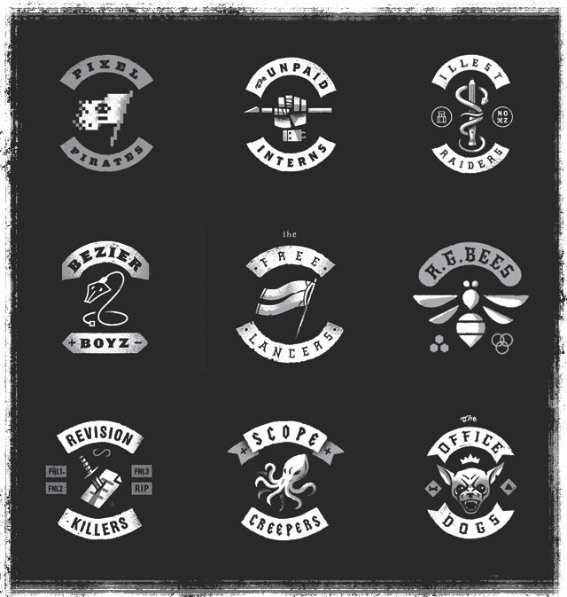Final 9 designs to be printed as shirts