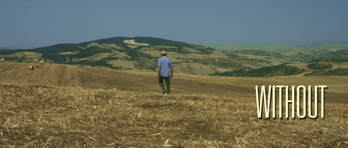 Summer hot burning plain, scene filmed this summer near Vaglio (Basilicata)