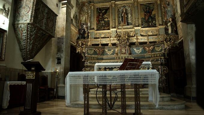 Main church in Vaglio, Basilicata (Italy)