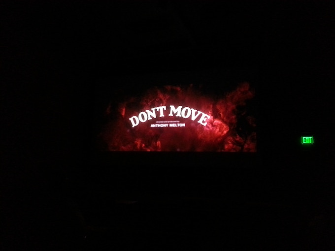 BBFF14 Viewers Choice Winner DON'T MOVE on the big screen at Central Cinema!