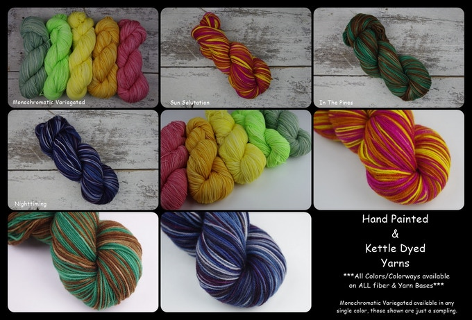 Hand dyed yarns!