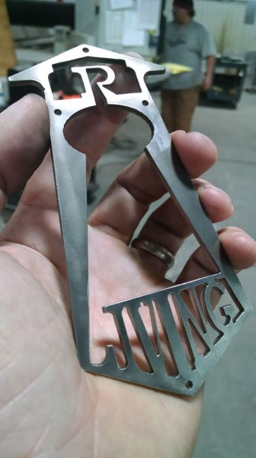 Waterjet cut Stainless LRL bottle opener! A must have!