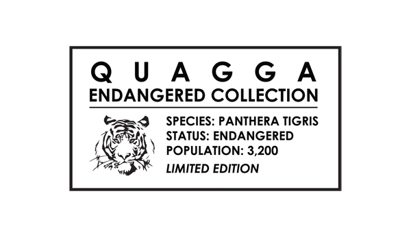 Our label for the Tiger Collection. We're only making 3,200 wallets in this collection to match the number of tigers. Hence the 'Limited Edition'