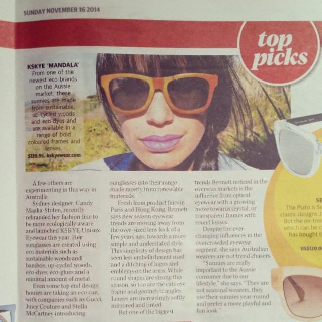 Featured in The Sunday Telegraph, Australia