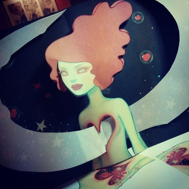 WIP of Tara McPherson's artist edition pop up page: Supernova