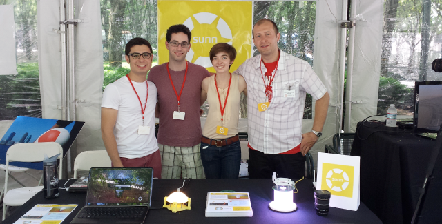 The Sunn team presenting early prototypes at the 2013 World Science Festival.