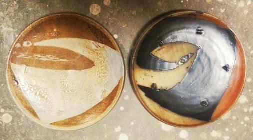 Pair of dinner plates by Sam Taylor, $185 pledge level