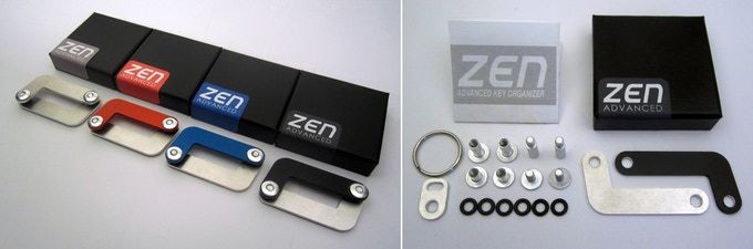 Each Zen Advanced key organiser comes with these inclusions standard (right image).