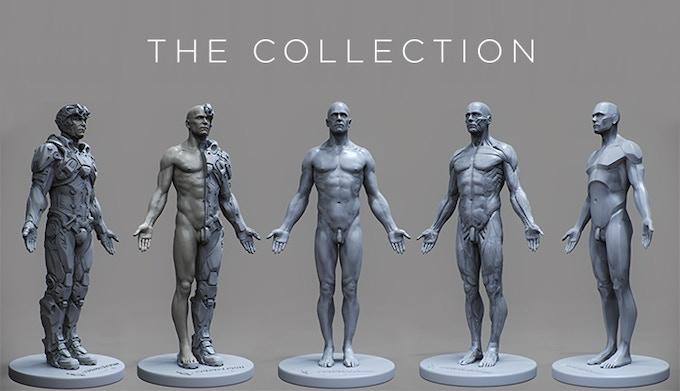 Artist render of the digital models