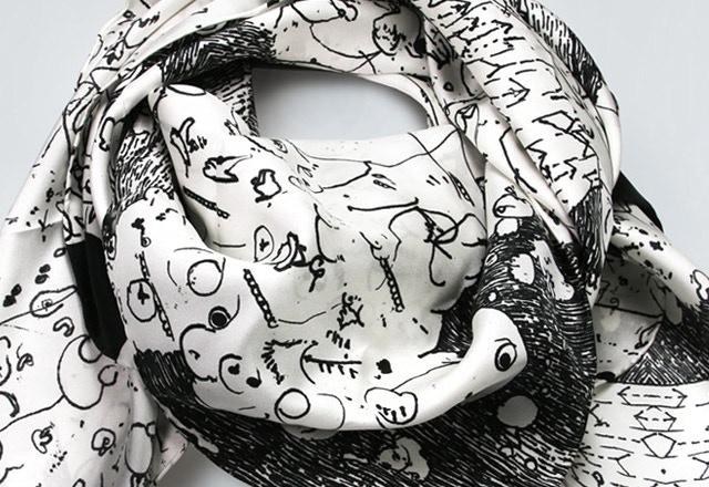'Lantern' scarf by James Paterson
