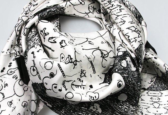 'Lantern' scarf by James Paterson