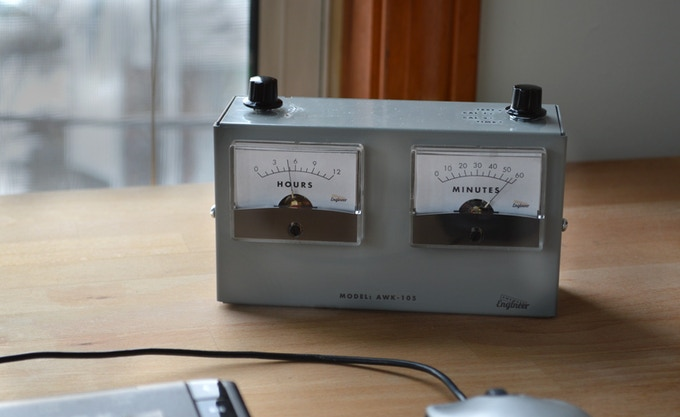 Voltmeter Desk Clock