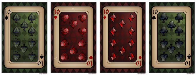 "The ""10"" Card prints for the ""Royal Flush"" Reward"