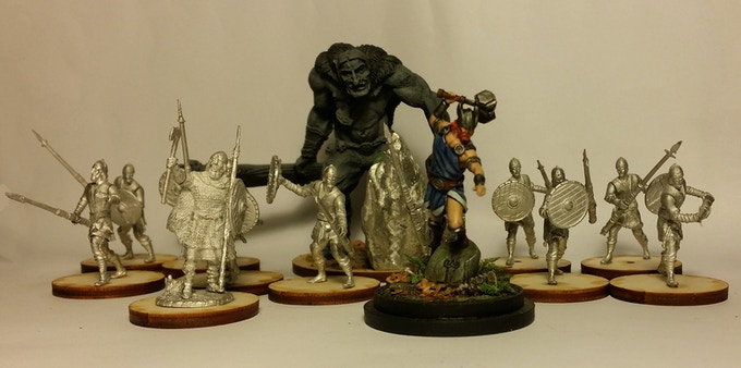 At our initial funding goal, The Norse Starter set will include 10 Norsemen, 1 Hersir, 1 Norse Troll and Thor, Norse god of thunder and protector of Midguard