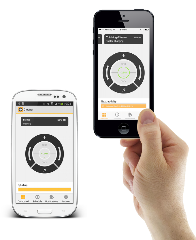 Dashboard on Android and iPhone