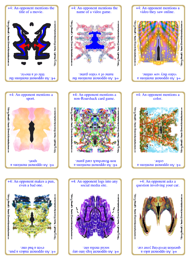 Example of Personalized Print-and-Play 9-Up Page of Victory Cards..